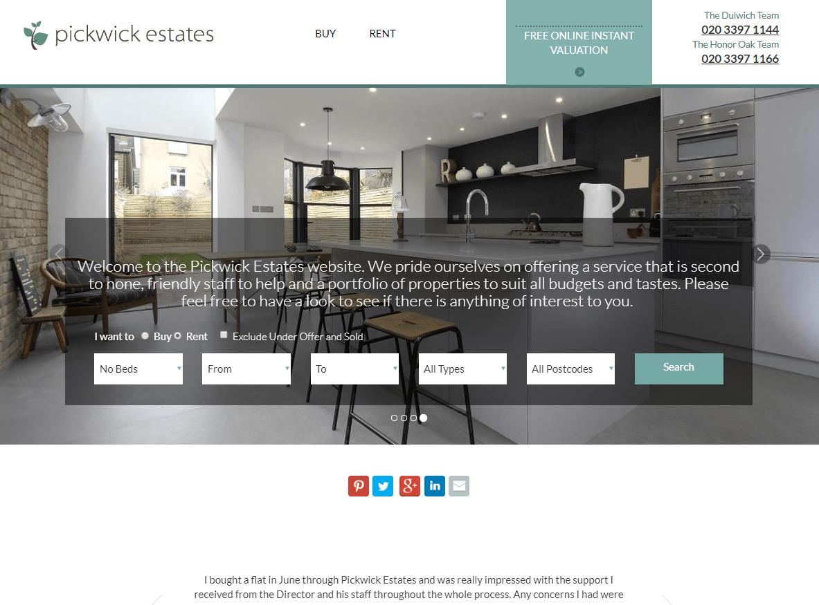 Pickwick Estates Website Design and Database Development
